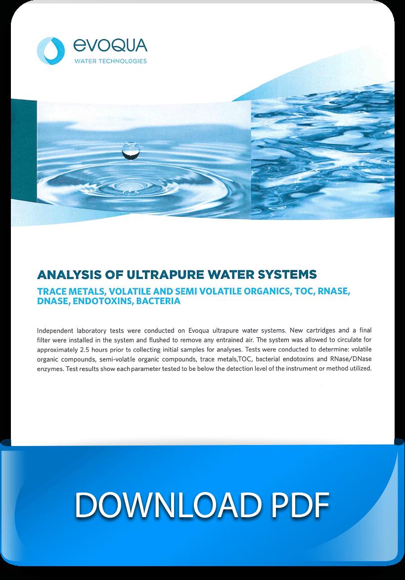 Laboratory Water Treatment - Purified Water Analysis