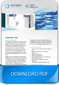 Modern water treatment system for laboratories and industry