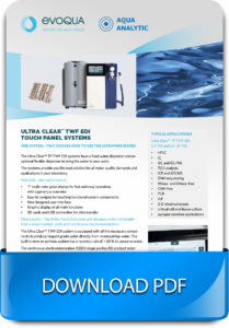 Evoqua reverse osmosis water purification system