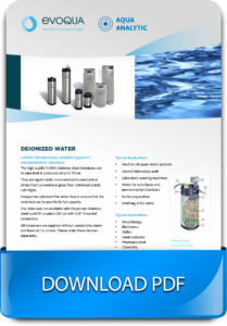 Evoqua Deionizers for Water Treatment Systems