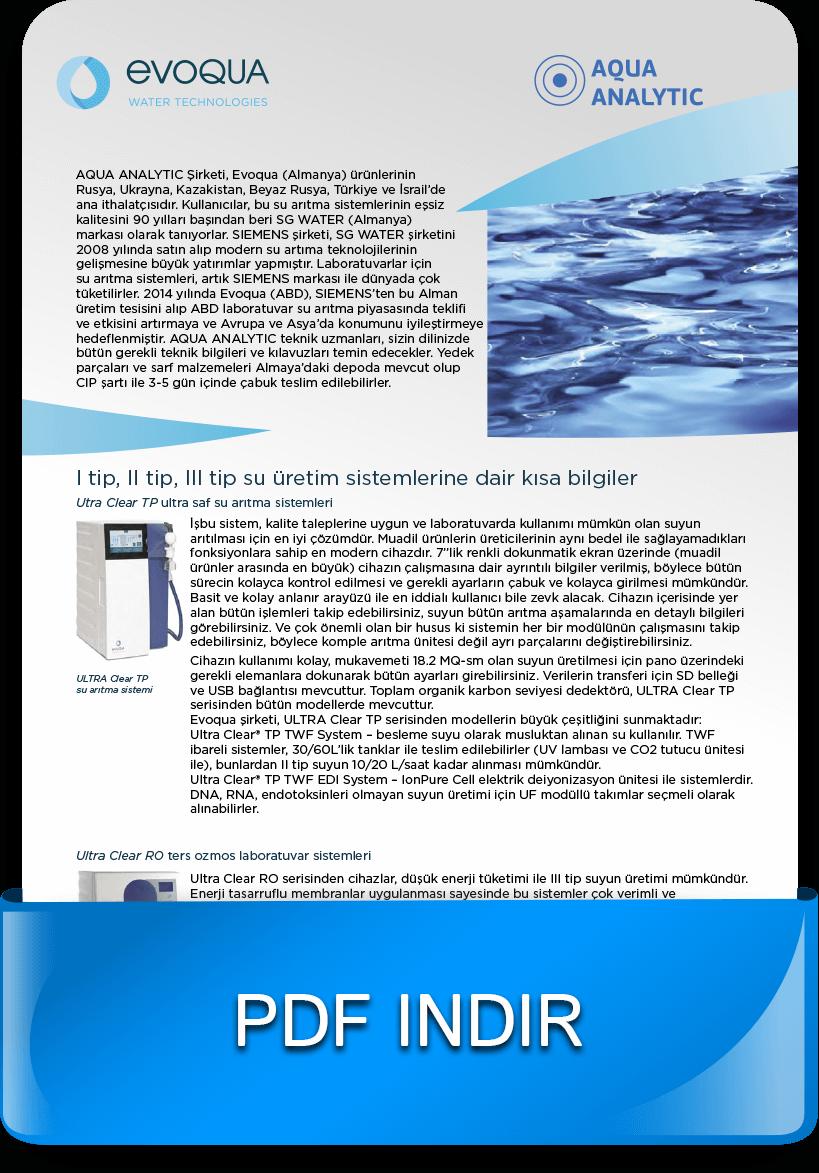 Laboratuvar ve endüstriyel su arıtma cihazları