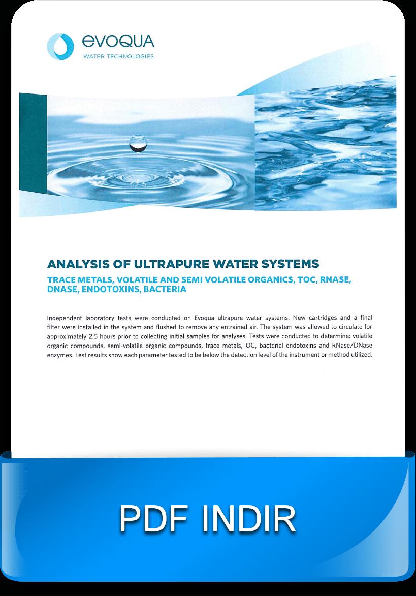 Laboratuvarlar için su arıtma-arıtılmış su analizi