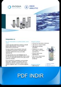 Su arıtma sistemleri için Evoqua deiyonizörleri